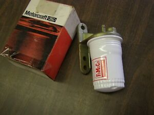 Nos Oem Ford 1962 1963 1964 Galaxie 500 Fairlane In Line Fuel Filter Fomoco