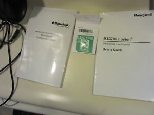 Honeywell Fusion Ms3780 Barcode Scanner With Stand Metrologic