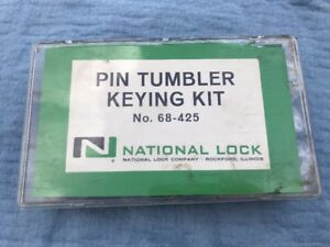 Locksmiths National Pin Tumbler Keying Kit Part Number 68 425