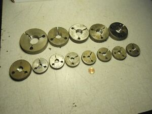 Thread Ring Gages Lot Of 13