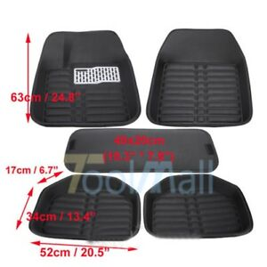 5pcs Universal Car Auto Floor Mats Floor Liner Front Rear Carpet All Weather Mat