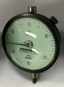 Federal D5m Dial Indicator With Lug Back 0 075 Range 0005 Graduation