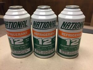 National Air R12 Refrigerant 3 Full 12oz Cans Ships Fast Free Shipping