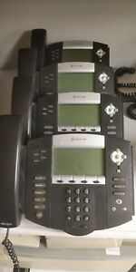 Lot Of 4 Polycom Soundpoint Ip 550