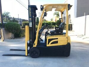 2013 Hyster Electric Forklift 3000lbs Side Shift 3 Stage Mast Model J30xnt