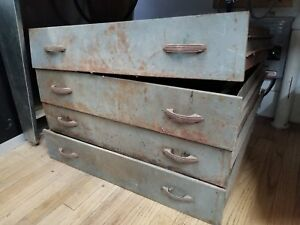 Vandercook Letterpress Proof Press 219 New Style Metal Drawers