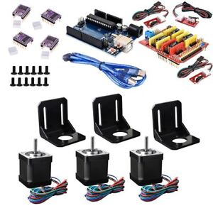 35 in 1 3d Printer R3 Board Stepper Motor With Driver Shield Cnc Set For Arduino