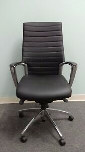 Global Accord 2670 lm 2 New Leather Executive Conference Chair With Chrome Frame