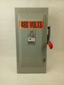 Siemens Hf363 Safety Switch Nema Type 1 Type Vb11 100a 600vac 600vdc 3p Used
