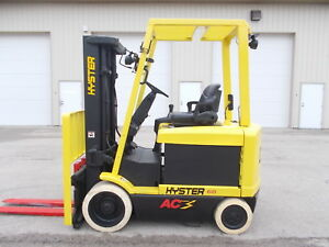 2004 Hyster E60z 33 6000lb Forklift 3 Stage Mast Lift Truck Hilo Fork Electric