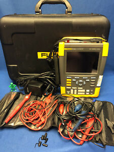 Fluke 190 202 2ch 200mhz 2 5gs s Color Scopemeter Portable Oscilloscope