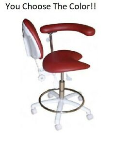New Galaxy Dental 2021 Assistant s Hygienist Chair Stool With Backrest