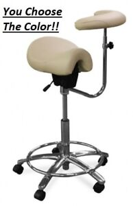 Galaxy 2045 Contoured Saddle Dental Assistant s Hygienist Seat Arm Stool Chair