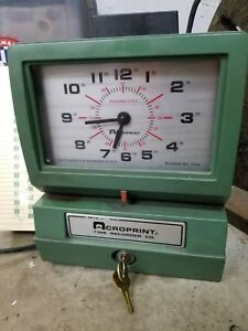 Time Clock Acroprint Time Recorder Co Used Great Condtion