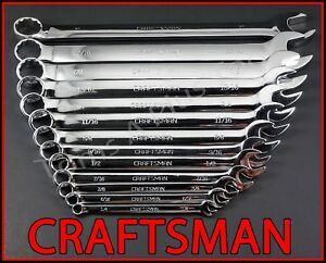 Craftsman Hand Tools 13pc Full Polish Long Beam Sae Combination Wrench Set