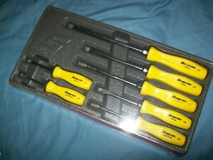 New Snap On Yellow Hard Handled 7 Piece Screwdriver Set Sddx70ay Sealed