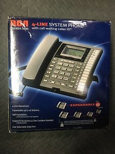 Rca 4 line System Phone With Call Waiting Called Id
