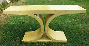Rare Karl Springer Vintage Hall Entry Table Mid Century Modern Console Micca