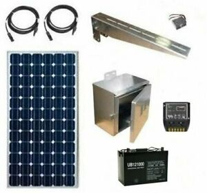 Solar Power System Off grid Power For Cameras Other Equipment 12 24v Dc