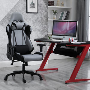 Gaming Chair Office Swivel Chair With Extra Soft Headrest And Lumbar Support