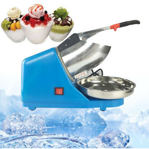 New 110v Electric Ice Shaver Machine Snow Cone Maker Crusher Shaving Tools Stock
