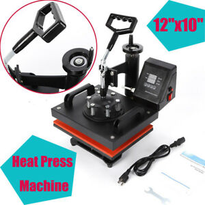 Heat Press Machine For T shirts 12 x10 Transfer Kit Sublimation Swing Away Best
