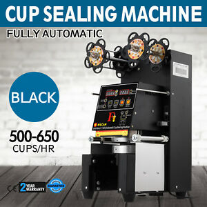 Fully Automatic Tea Cup Sealing Machine 500 650 Cups h Digital Control Lcd Panel