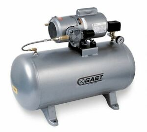 Gast 5hcd100tam550ngx Electric Air Compressor Tank Mounted