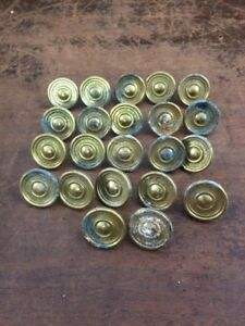 Set Of 22 Vintage Salvage Gold Tone Drawer Pulls Knobs 1 25 Diameter 19