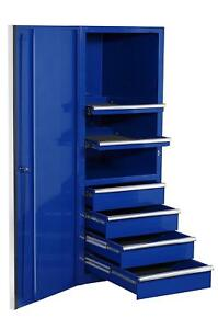 Extreme Tools Ex2404scbl 24 In 4 drawer 2 shelf Professional Side Cabinet Blue