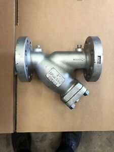 2 Inch Y Strainer 600 Lb Flanged Stainless Steel Titan New