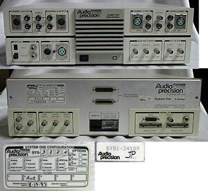Audio Precision System One Dual Domain Model 322a With I o Matrices