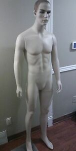 Male Mannequins Display Men Suit Formal Full Body Dress Form Manikin 6ft Tall