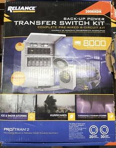 New Reliance Pre wired 6 circuit Power 3006hdk Generator Transfer Switch Box Kit