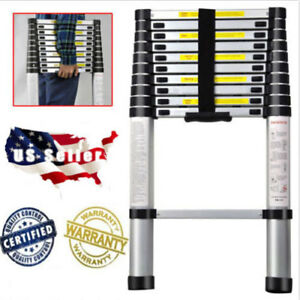 10 5 Ft Aluminium Telescopic Ladder Extension Folding Multi purpose Steps Tool