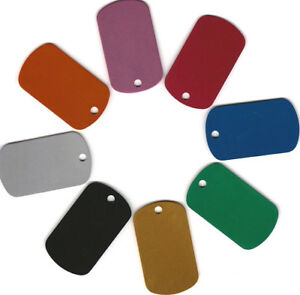Dog Tags Lot Of 100 Wholesale Blank anodized aluminum gi military dog tags