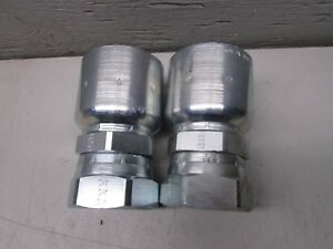 Parker 10643 20 20 Hydraulic Hose Fitting Lot Of 2