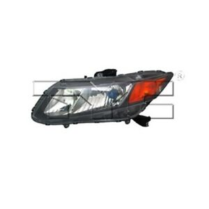 Nsf Certified Headlight Assembly Fits 2012 2012 Honda Civic Tyc