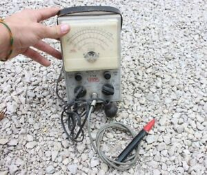 Eico Model 232 Peak To Peak Vtvm Voltmeter Ohmmeter Vintage With Probe