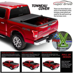 Lock Soft Roll Up Tonneau Cover Fit For 2007 2018 Toyota Tundra 6 5ft 78in Bed