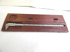 Starrett 123 26 1 2 Vernier Caliper In Wooden Case