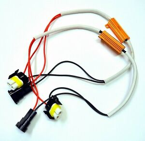Wire Hid Resistor Canceler Error Decoder S H8 Fog Light Bulb Flicker Fix Harness
