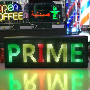 New Led 40 x15 outdoor Self design Display Open Message Sign Board Waterproof Us