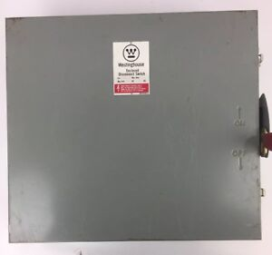Westinghouse Sdsn6060 Disconnect Switch Max Amp 60 Max Volts 600ac 250dc 6 Poles