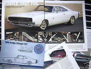 H 68 1968 Dodge Charger Rt White Muscle Info