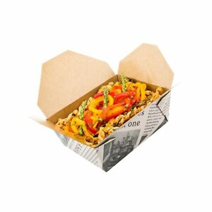 Disposable Take Out Container 8 To Go Box Eco friendly Paper Rectangle