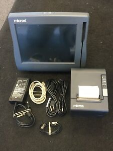 Micros Workstation 4 Lx Pos System With Printer great Working Condition