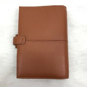 Filofax Personal Finchley Deluxe Leather Planner Organizer Caramel Brown Nwot