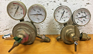 Lot Of Gas oxygen Regulator Victor Equipment Co Sr460a Pro Star Rc350 125 540