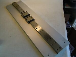 Linear Motion Rail System Mounted On Aluminum Plate 26 Long